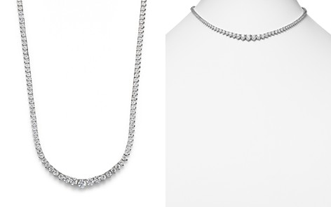 Diamond Tennis Necklace in 14K White Gold, 10.0 ct. - 100% Exclusive - Bloomingdale's_2